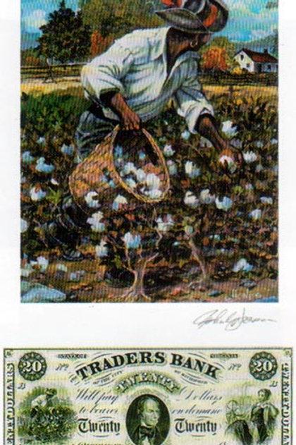 Slave Gathering Cotton :  Virginia