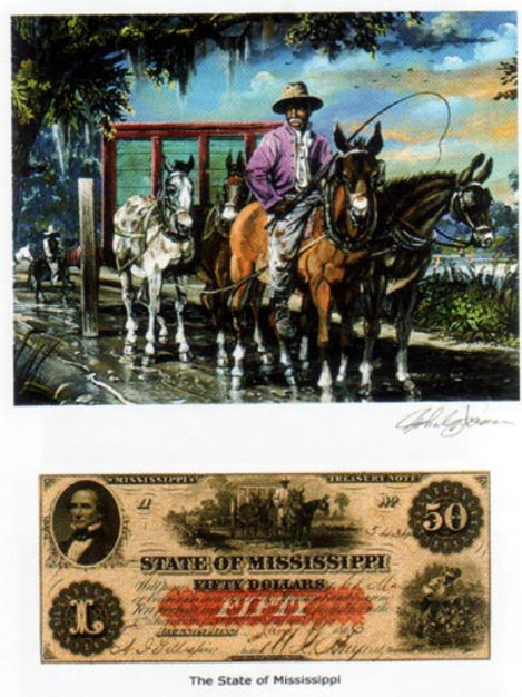 Slave Riding Horse : Mississippi