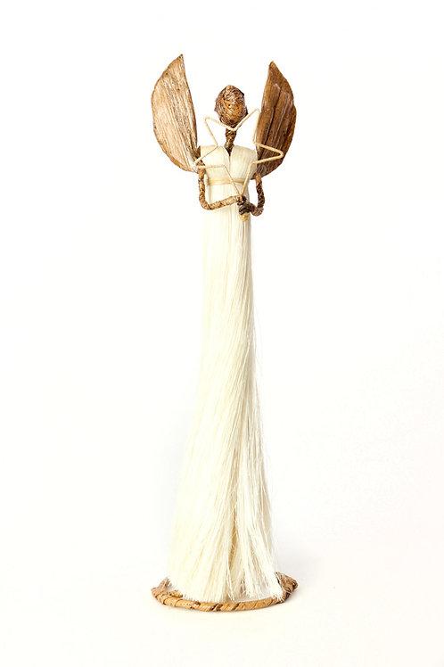 Fiber Angel of Light Holiday Sculpture - Medium