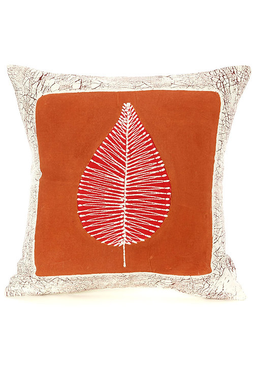 Luangwa Leaf Clay Pillow Cover