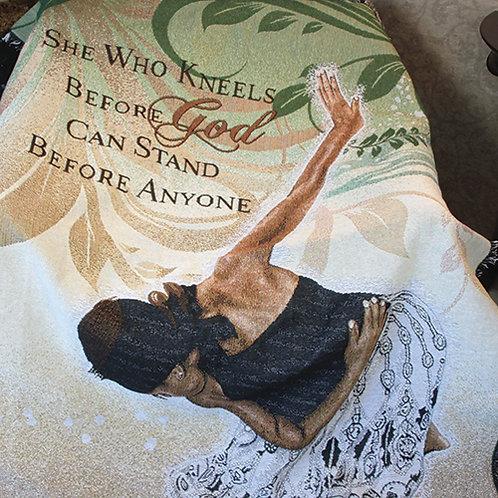 She Who Kneels Throw