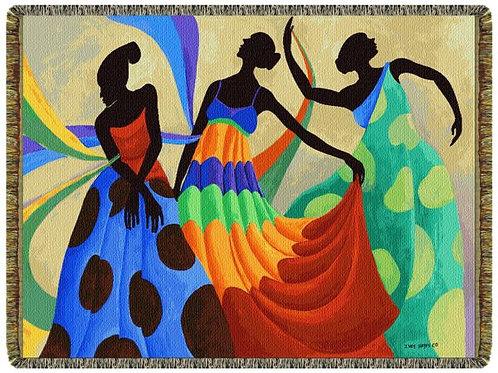 Dancers In Black Skin Throw
