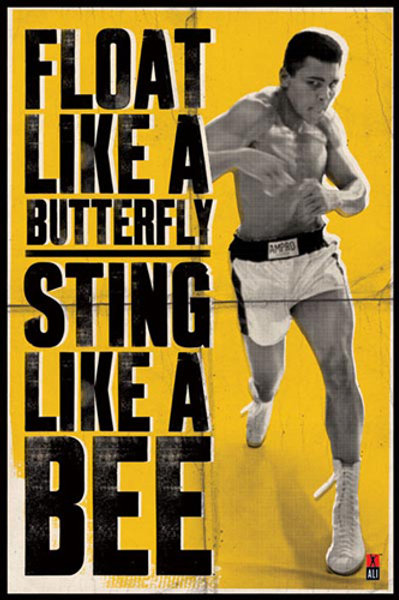 Muhammad Ali :  Float like A Butterfly