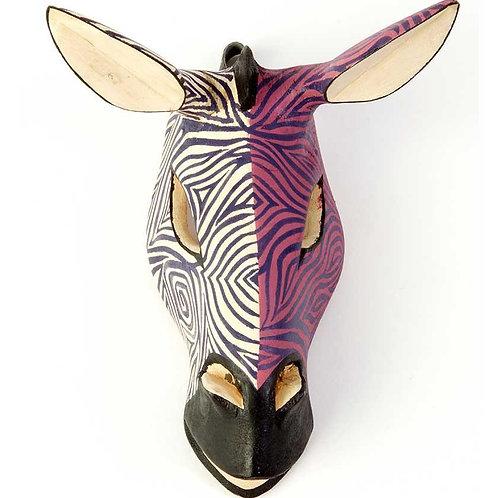 Kenyan Jacaranda Zebra Mask in Purple Duotone