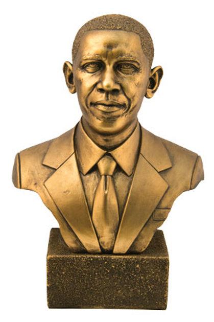 Pres Obama Bust Bronze