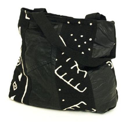 Mud Cloth & Leatherette Bag