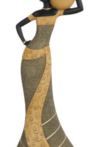 Taper Candlestick. Woman 1 In olive - 25700
