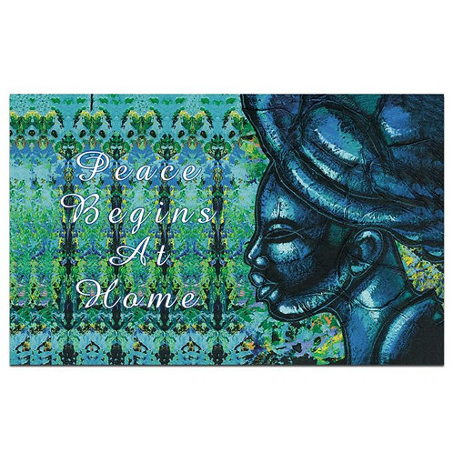 PEACE BEGINS AT HOME INTERIOR FLOOR MATS