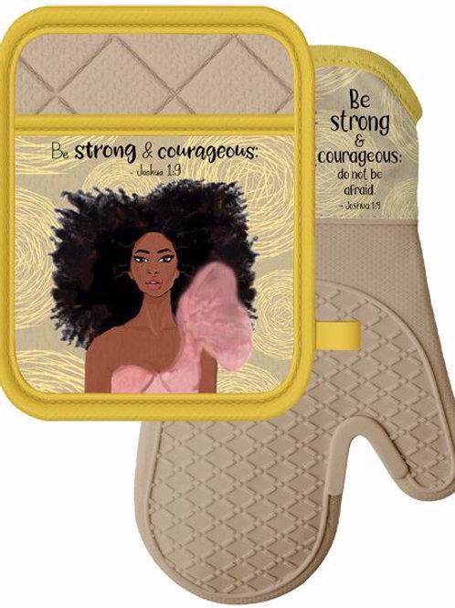 Strong Girl - Mitt Potholder