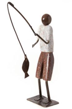 Stone and Metal Fisherman