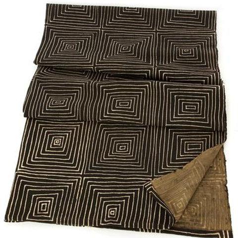 Black Segou Squares Cotton Throw