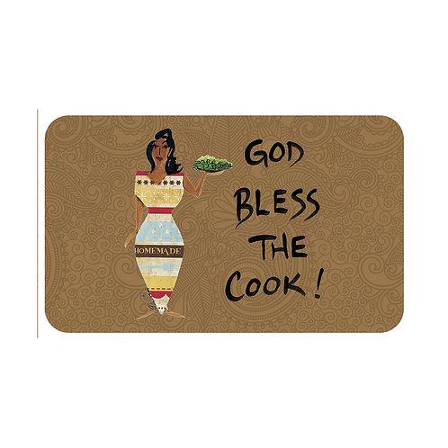 GOD BLESS THE COOK INTERIOR FLOOR MATS