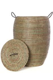 Senegalese Tall Black Bongo Hamper Basket