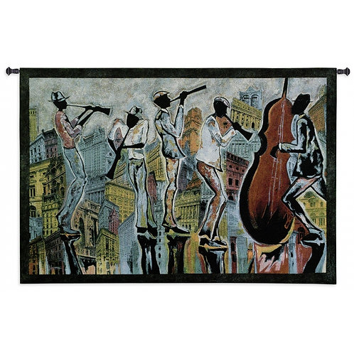 Jazz Reflections ( Music ) Tapestry Wall Art