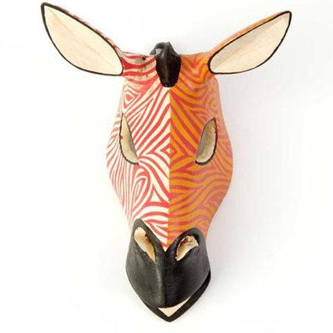 Kenyan Sunset Jacaranda Giraffe Mask