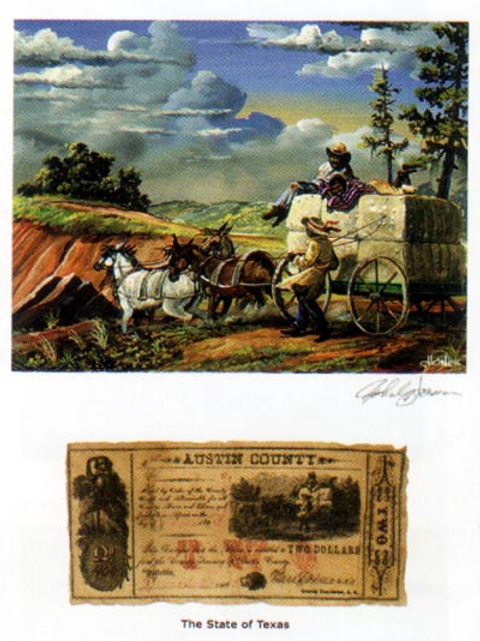 Slaves And Cotton Bales : Texas