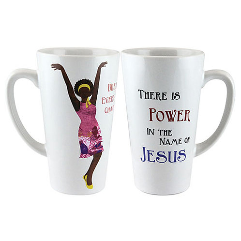 NAME OF JESUS LATTE MUG