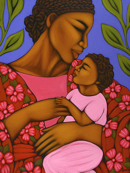 African Mother and Baby - 24  x  30