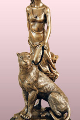 Bronze Woman With Panther