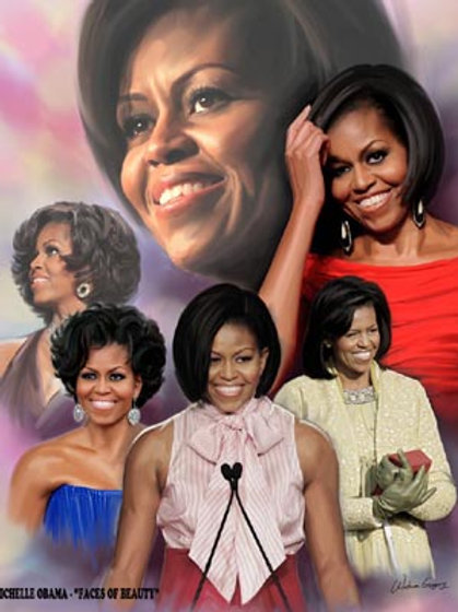 Michelle Obama : Faces of Beauty