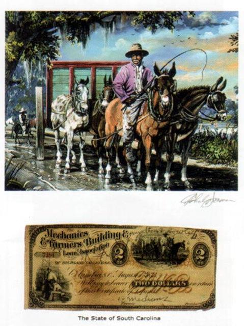 Slave Riding Horse : South Carolina