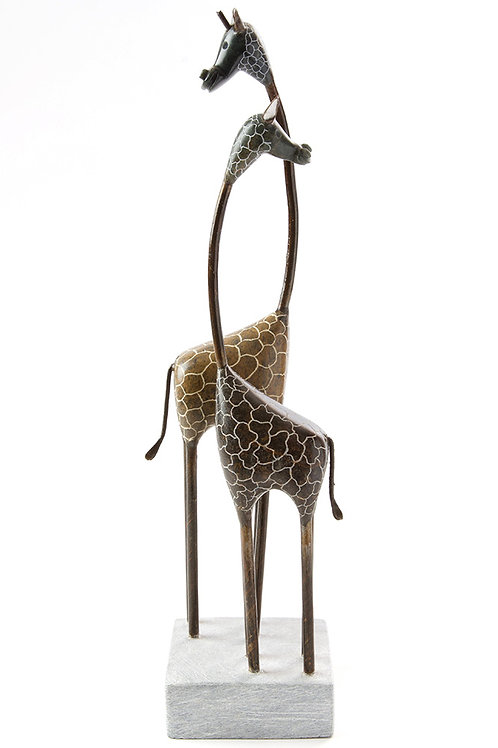 Double Giraffe Sculpture