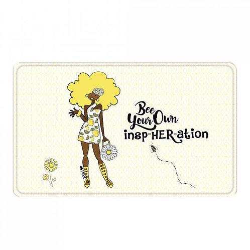 Bee Your Own Insp-Her-Ation  Floor Mat