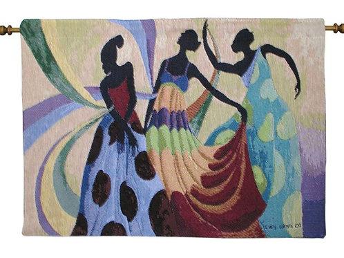 Dancers in Black Skin II Tapestry