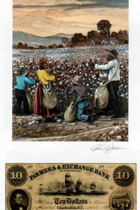Slave Family Picking Cotton :  South Carolina