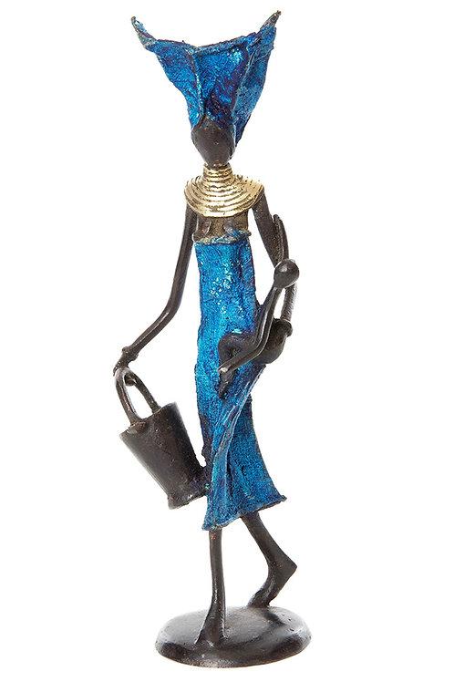 Mother's Gele Burkina Bronze Sculpture