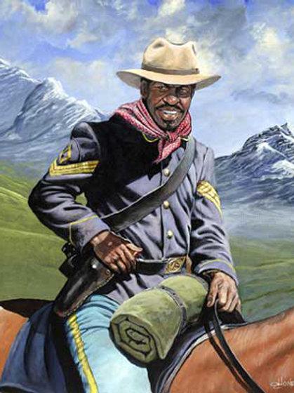 Buffalo Soldier on Patrol