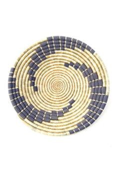 Small Gray Kitenge Bahari Wall Basket