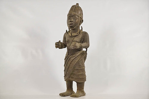 Impressive Benin Bronze Soldier