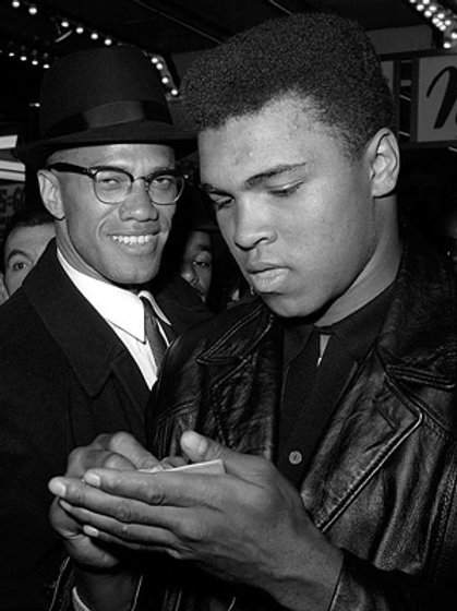 Muhammad Ali and Malcolm X   NYC March 1, 1964