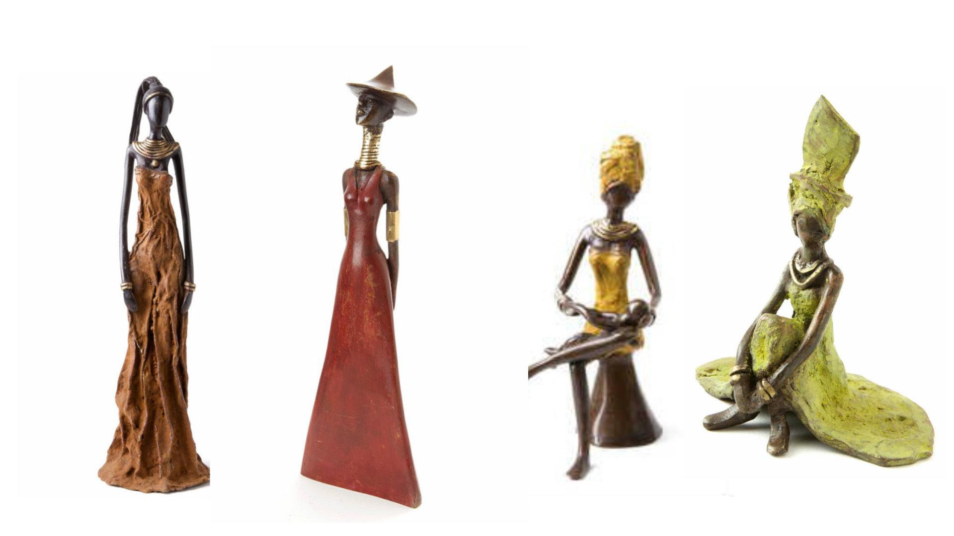 Burkino Faso Bronze Sculpture