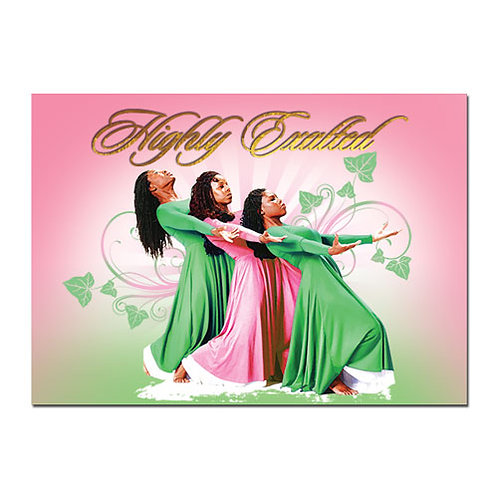 C-917 Three Ladies Pink and Green