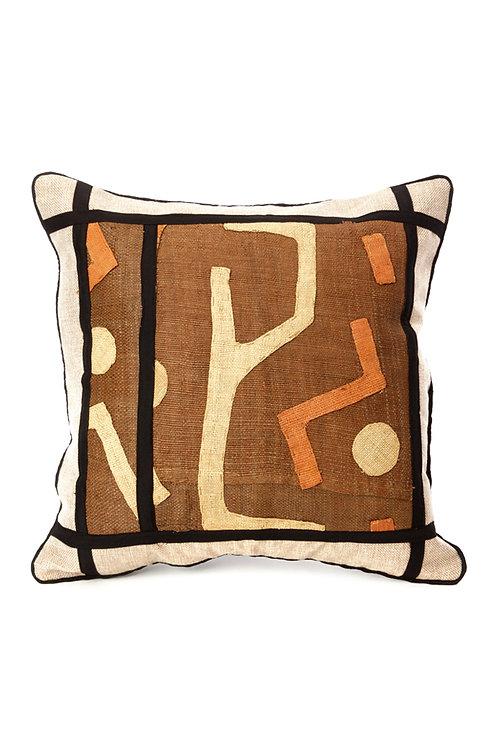 "18"" Criss-Cross Congo Raffia Pillow"