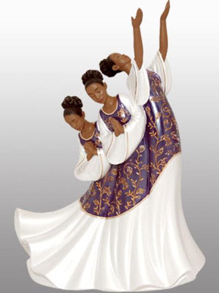 Praise Dancer - Giving Praise In Purple