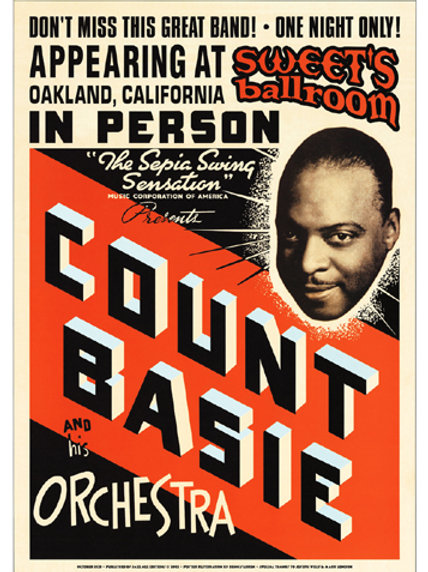 Count Basie : Sweets ballroom  NYC, Oakland 1939