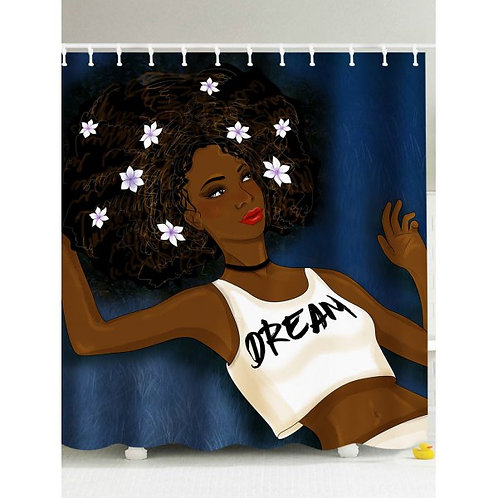 Afro Girl Think About Her Dream