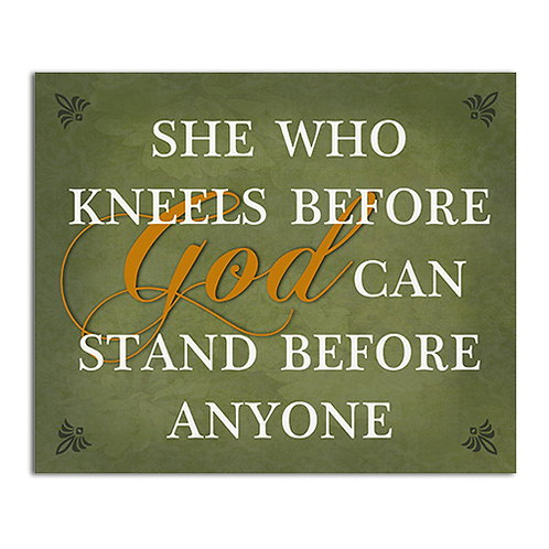 She Who Kneels      Wall Plaque