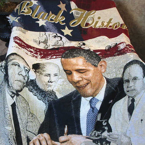 Black History Blanket Throw