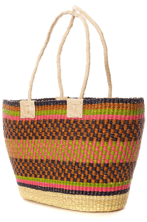 Ghanaian Impeccable Tote in Assorted Colors