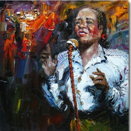 Lady Singer Canvas  Oil Painting