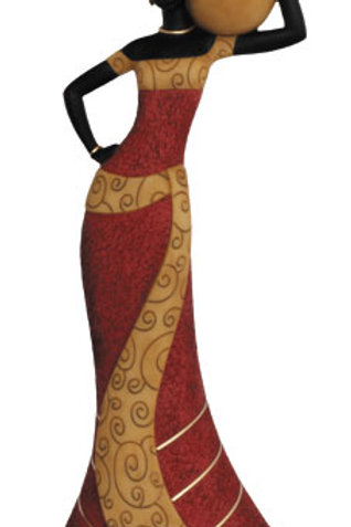 Taper Candlestick....   Woman 1 In Red