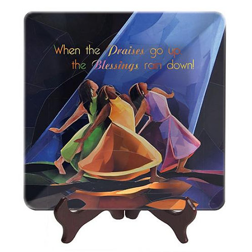 Praises Go Up  -  Glass Plate