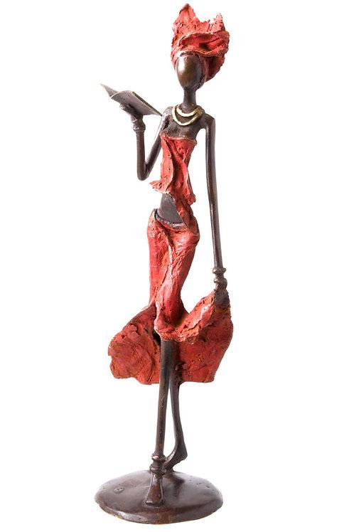 Red Reader Bronze Sculpture