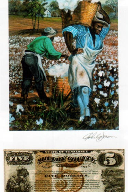 Slaves Carrying Cotton :  Tennessee