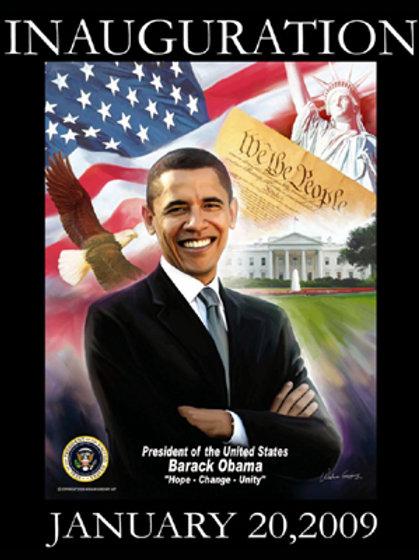 President Barak Obama  Hope Change Unity