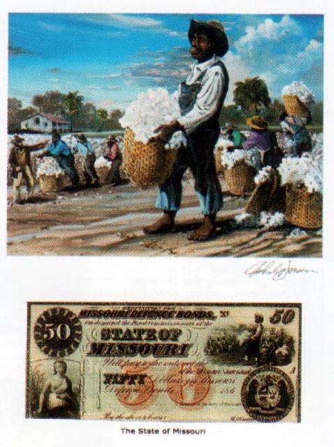 Slaves Picking Cotton :  Missouri